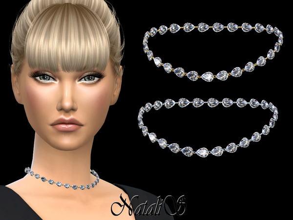 Pear cut diamond necklace 001 by NataliS at TSR image 258 Sims 4 Updates
