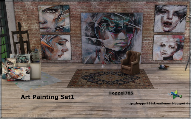 Sims 4 Art Painting Collection at Hoppel785
