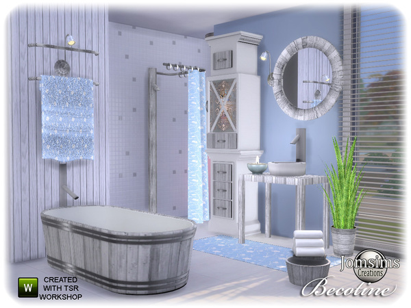 Becotine bathroom by jomsims at TSR image 2612 Sims 4 Updates