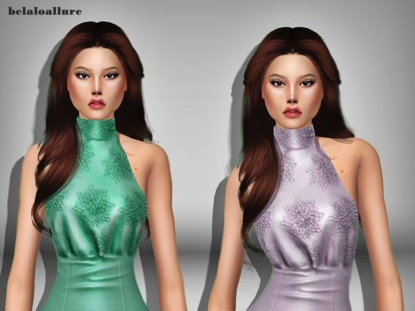 Sims 4 Belaloallure Annie Mae dress by belal1997 at TSR