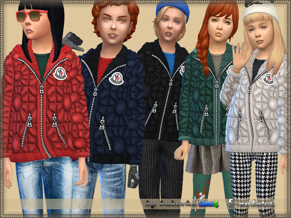 Sims 4 Quilted Jacket by bukovka at TSR