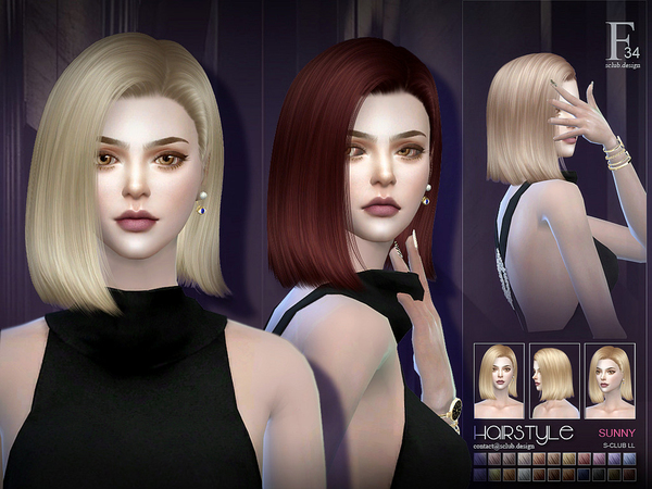 Sunny hair n34 by S Club at TSR image 263 Sims 4 Updates