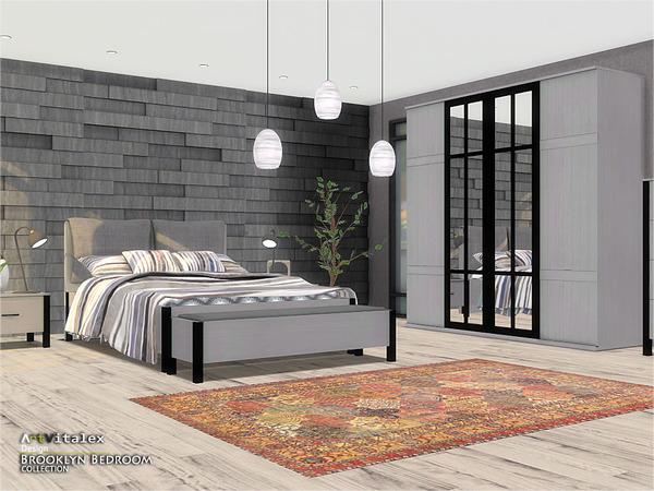 Brooklyn Bedroom by ArtVitalex at TSR image 264 Sims 4 Updates