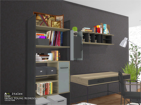 Irony Young Bedroom by ArtVitalex at TSR image 265 Sims 4 Updates