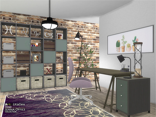 Jenna Office by ArtVitalex at TSR image 267 Sims 4 Updates