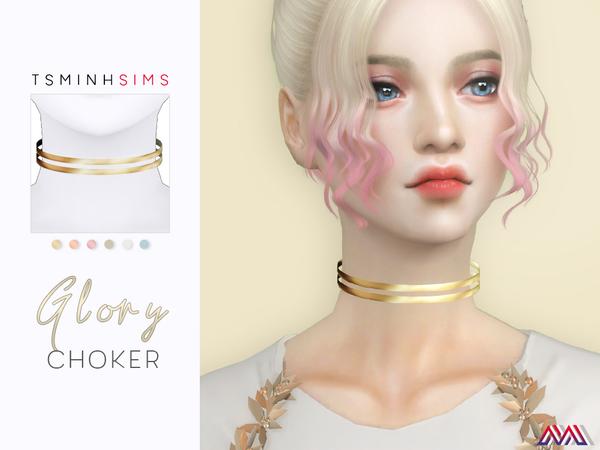 Glory Choker by TsminhSims at TSR image 2712 Sims 4 Updates