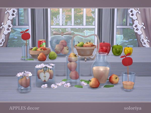 Apples Decor by soloriya at TSR image 2719 Sims 4 Updates
