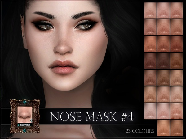 Nose mask 04 full coverage & overlay by RemusSirion at TSR image 275 Sims 4 Updates