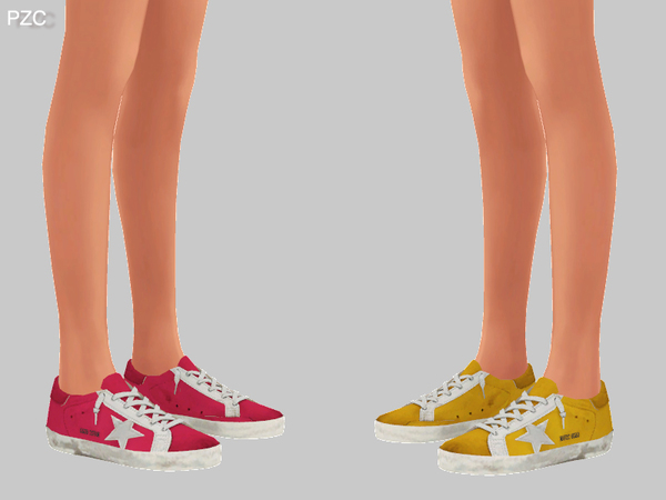 Super Star Sneakers Recolor For Female by Pinkzombiecupcakes at TSR image 278 Sims 4 Updates