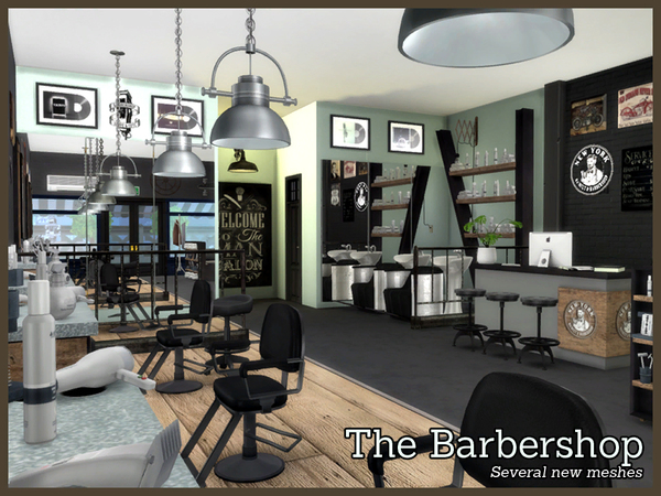 The Barbershop by Angela at TSR image 2818 Sims 4 Updates