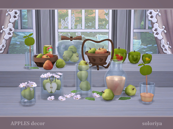 Apples Decor by soloriya at TSR image 2819 Sims 4 Updates