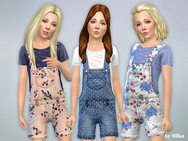 Printed Shorts Overall 02 by lillka at TSR image 2821 Sims 4 Updates