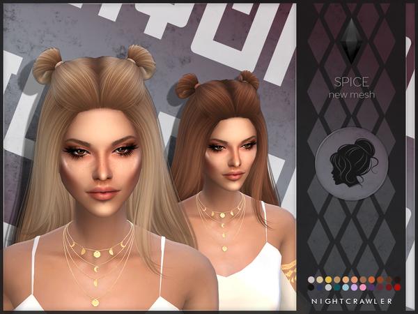 Sims 4 Spice hair by Nightcrawler at TSR