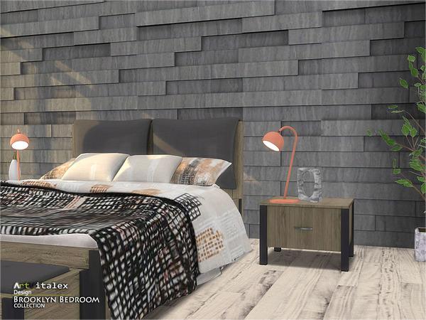 Brooklyn Bedroom by ArtVitalex at TSR image 284 Sims 4 Updates