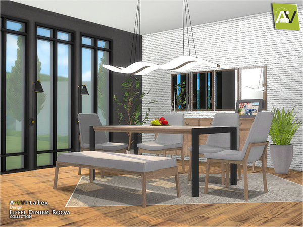 Eiffel Dining Room by ArtVitalex at TSR image 286 Sims 4 Updates