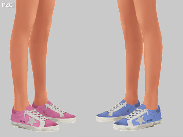 Super Star Sneakers Recolor For Female by Pinkzombiecupcakes at TSR image 288 Sims 4 Updates