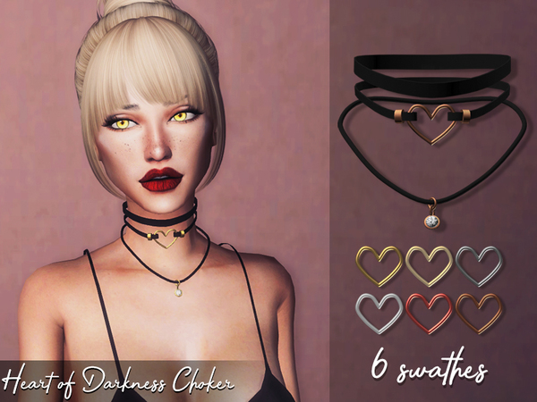 Heart of Darkness Choker by Genius666 at TSR image 289 Sims 4 Updates