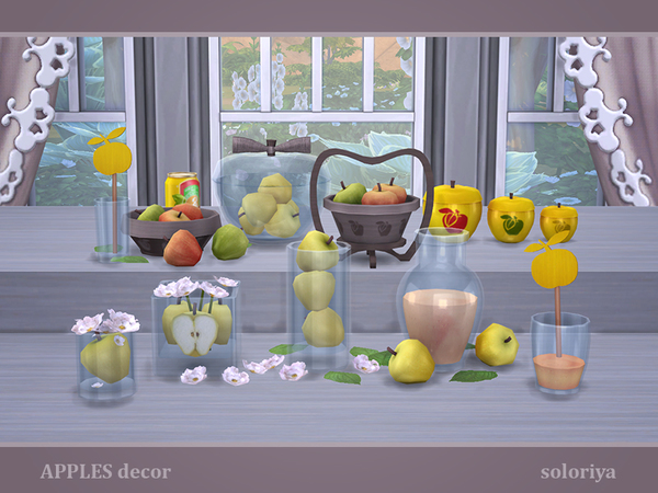 Apples Decor by soloriya at TSR image 2919 Sims 4 Updates