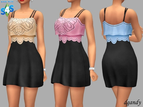 Sims 4 Demi dress by dgandy at TSR