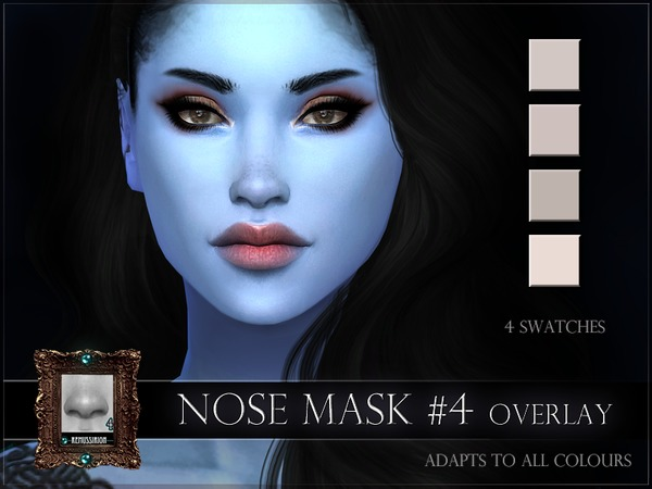 Nose mask 04 full coverage & overlay by RemusSirion at TSR image 295 Sims 4 Updates