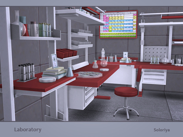 Laboratory set by soloriya at TSR image 301 Sims 4 Updates