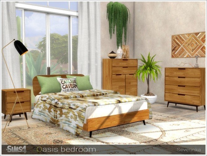 Oasis bedroom by Severinka at TSR image 3019 670x505 Sims 4 Updates