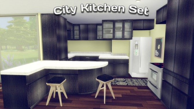 City Kitchen Set at Simming With Mary image 3031 670x377 Sims 4 Updates