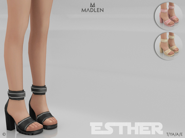 Sims 4 Madlen Esther Shoes by MJ95 at TSR
