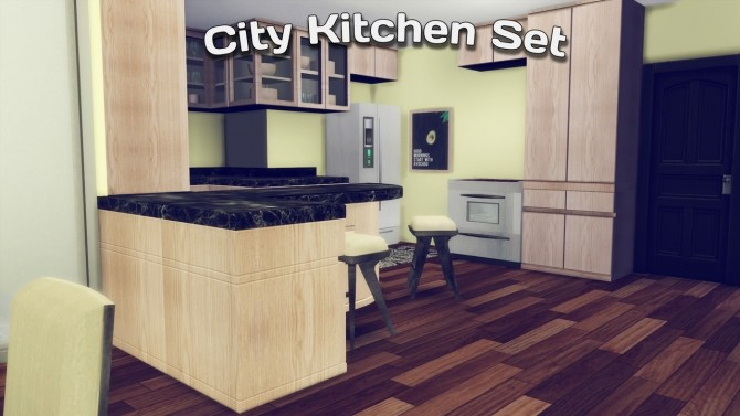 City Kitchen Set at Simming With Mary image 3041 670x377 Sims 4 Updates