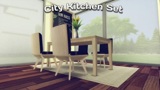 City Kitchen Set at Simming With Mary image 3051 670x377 Sims 4 Updates