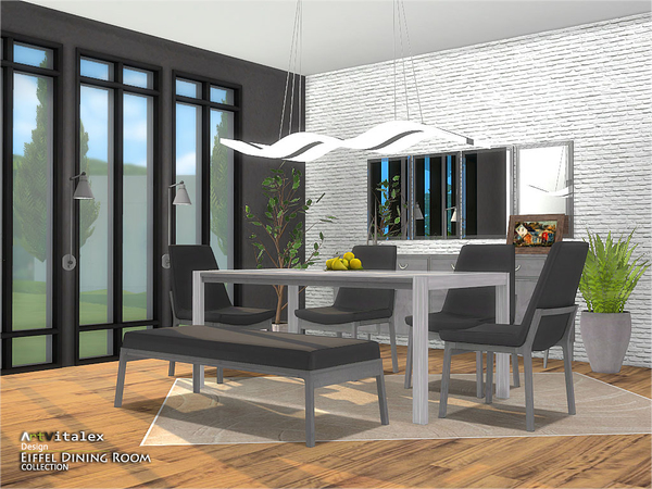 Eiffel Dining Room by ArtVitalex at TSR image 306 Sims 4 Updates