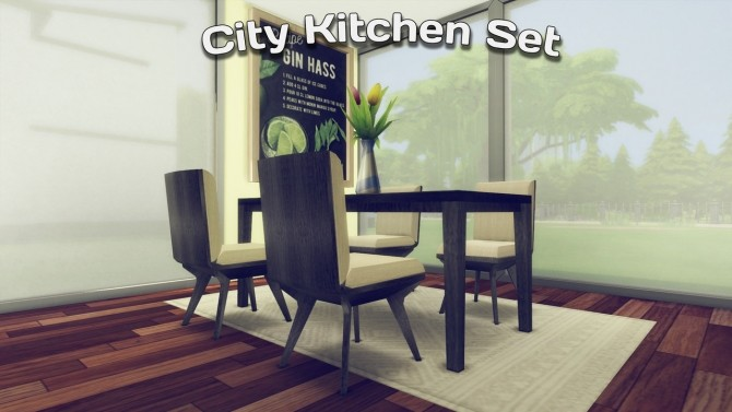 City Kitchen Set at Simming With Mary image 3061 670x377 Sims 4 Updates