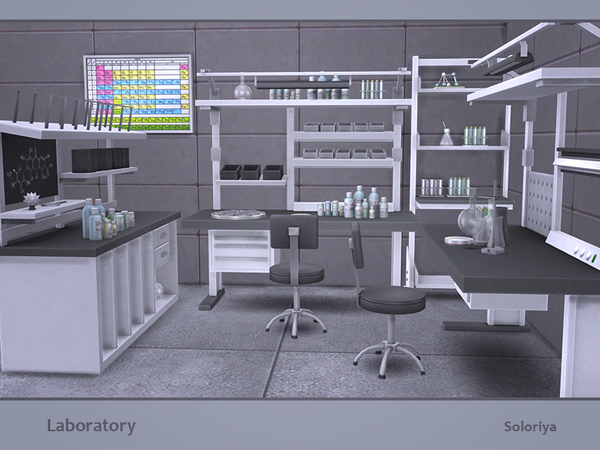 Laboratory set by soloriya at TSR image 311 Sims 4 Updates