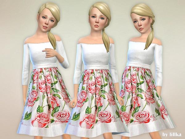 Sims 4 Lorelai Dress by lillka at TSR