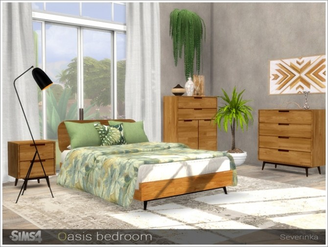 Oasis bedroom by Severinka at TSR image 3123 670x505 Sims 4 Updates