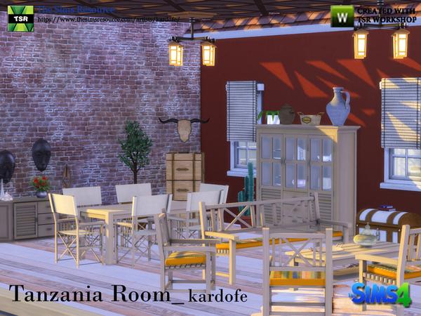 Tanzania Room by kardofe at TSR image 3125 Sims 4 Updates
