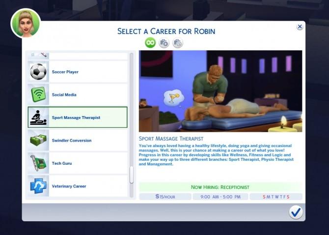 Sports Massage Therapist Career by tumblrpotato at Mod The Sims image 3210 670x478 Sims 4 Updates