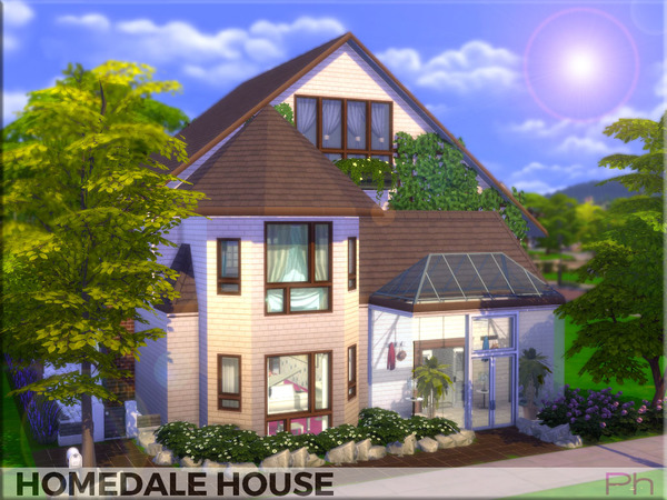 Sims 4 Homedale House by Pinkfizzzzz at TSR