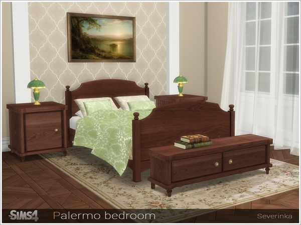 Palermo bedroom by Severinka at TSR image 322 Sims 4 Updates