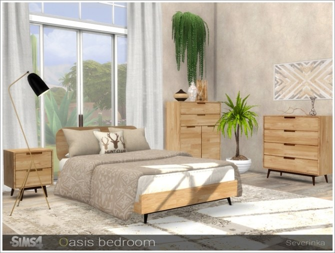 Oasis bedroom by Severinka at TSR image 3220 670x505 Sims 4 Updates