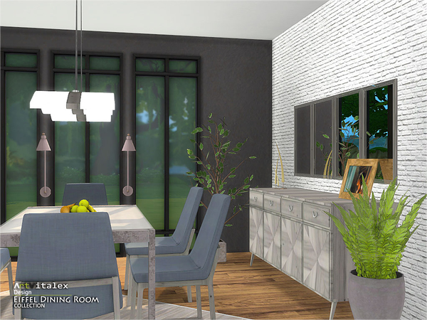 Eiffel Dining Room by ArtVitalex at TSR image 326 Sims 4 Updates