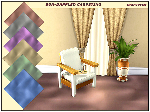 Sun Dappled Carpeting by marcorse at TSR image 327 Sims 4 Updates