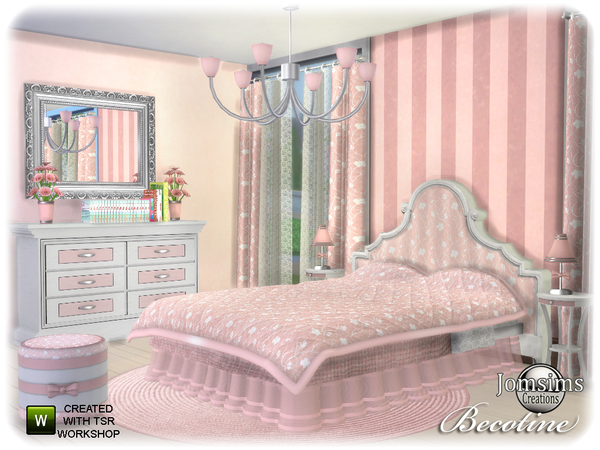 Becotine bedroom by jomsims at TSR image 3313 Sims 4 Updates