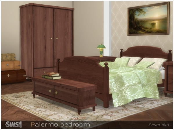 Palermo bedroom by Severinka at TSR image 332 Sims 4 Updates