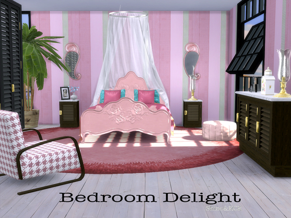 Sims 4 Bedroom Delight by ShinoKCR at TSR