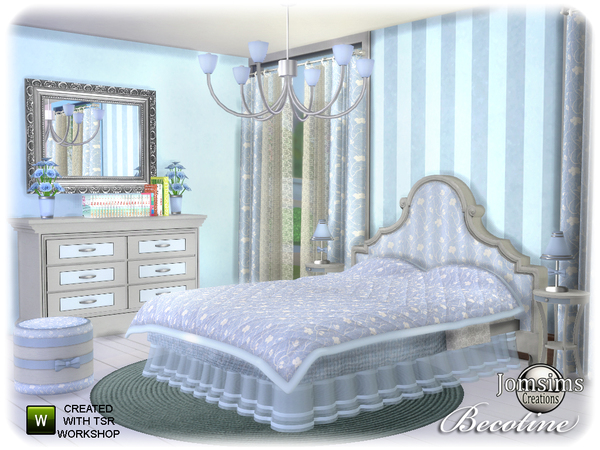 Becotine bedroom by jomsims at TSR image 3413 Sims 4 Updates