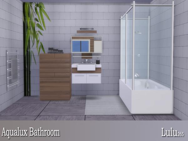Sims 4 Aqualux Bathroom by Lulu265 at TSR