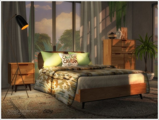 Oasis bedroom by Severinka at TSR image 3419 670x505 Sims 4 Updates