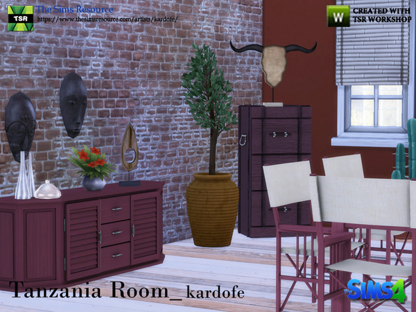 Tanzania Room by kardofe at TSR image 3421 Sims 4 Updates