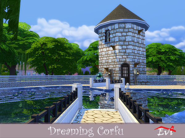 Sims 4 Dreaming Corfu house by evi at TSR